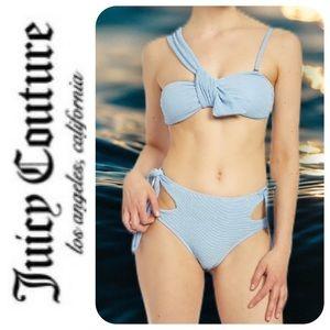 Juicy Couture Asymmetrical Bandeau Bikini - NWT